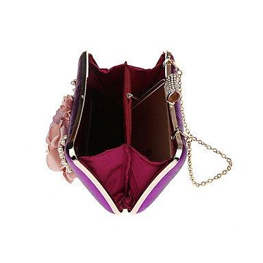 SUNNY KEY-Pochette e Clutch@Poliestere A scatto Nero Argento Rosso Viola Fucsia , gold purple