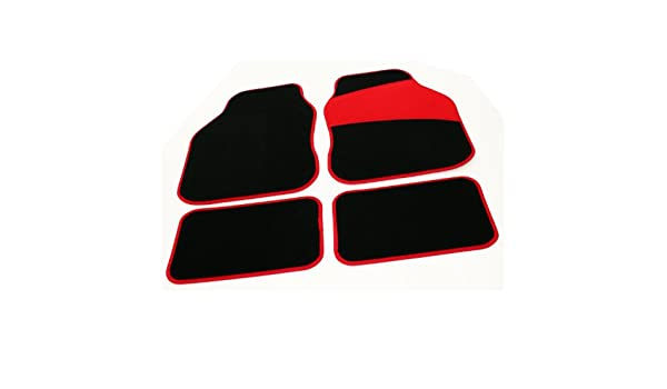 5003595 Set of 4 Black Connected Essentials Fully Tailored Car Mats Deluxe