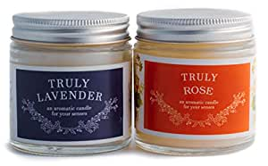 Sakura Enterprise Scented Candles Jars in True Fragrance with Finest Wax (Rose and Lavender)