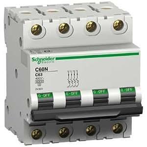 Disjoncteur modulaire Multi 9 - C60N 4pôles 63A.