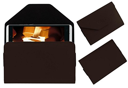 Acm Premium Pouch Case For Gionee Gpad G4 Flip Flap Cover Holder Brown  available at amazon for Rs.179