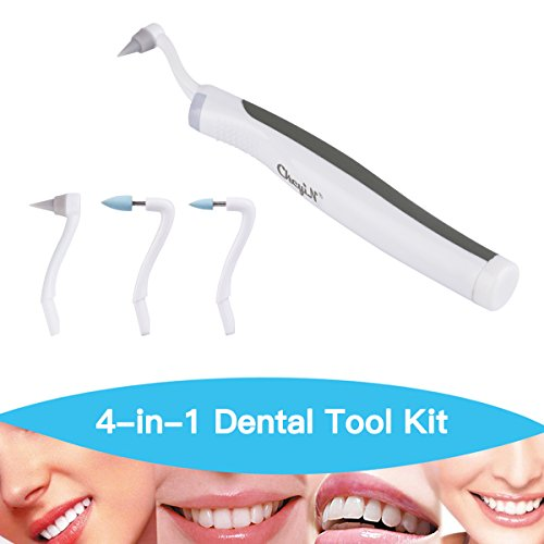Multifunktions LED Dental Tool, Kit Mundhygiene und Pflege CkeyiN(Zahnflecken Eraser + Plaqueentferner 4 Heads)