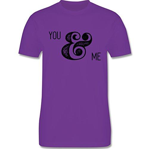 Valentinstag - You & Me Typo - Herren Premium T-Shirt Lila