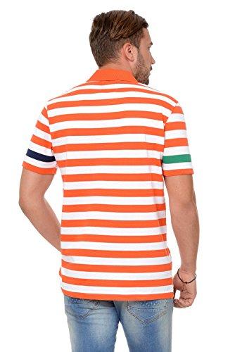 M.Conte Uomo maglietta da polo shirt manica corta Ariano Arancione
