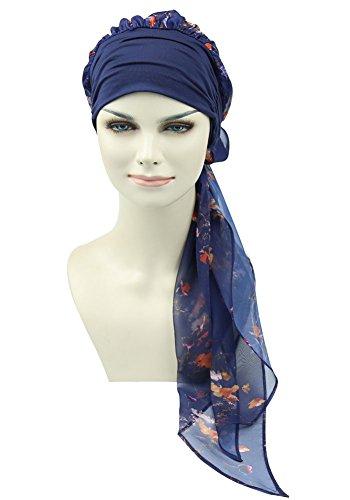 chemo kopfbedeckung turban schals vor kopf - wraps kopftuch gebunden für krebs medizinische chemotherapie - patienten. (Volle Kopfbedeckung)