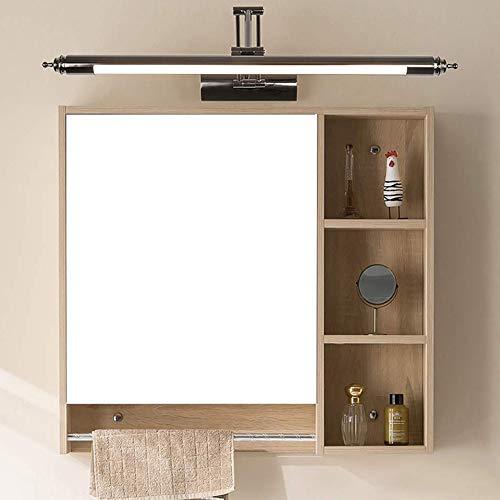 DengGuang-nh Led Badezimmerspiegelleuchte Drehbare Anpassung Wohnzimmer Schlafzimmer Badezimmer Wandleuchte Moderne Einfache Spiegel Scheinwerfer Spiegelschrank Licht,Schwarz,56cm