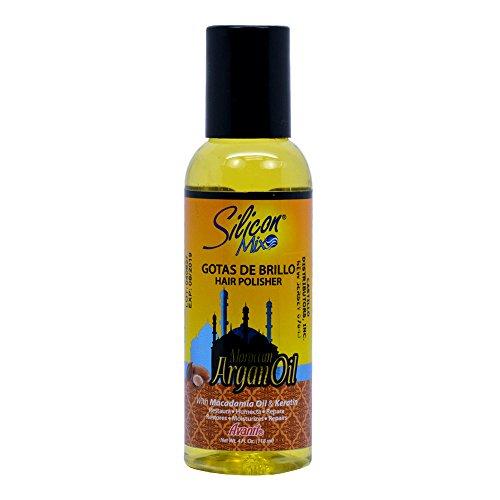 Silicon Mix Argan Hair Shine Drops Gotas De Brillo 4oz/118ml -