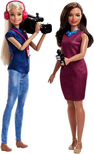 Barbie FJB22 2er Set Karriere-Puppen: TV-Nachrichten-Team