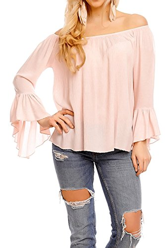 Fashion - Chemisier - Tunique - Uni - Col Rond - Femme Rose