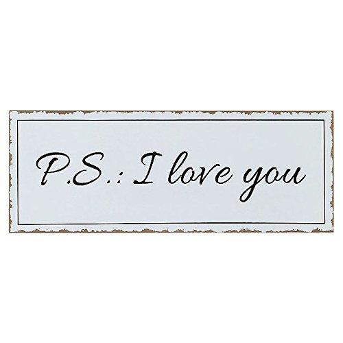 Boltze Holzart Schild P.S.: I love you