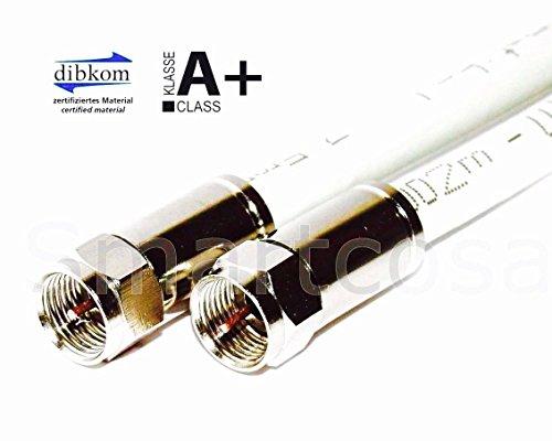 StilBest HDTV-Antennenkabel 130db A+ 100% Reines Kupfer Hochwertiges Satkabel 6,5m (Tv 3d Samsung 32)