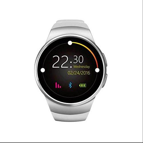 Sport Bluetooth Smart Watch, Stoppuhr, Rechner, Blut Druck Messen, Herzfrequenz chiloé Sport Armbanduhr, Multifunktions LED-Display Fernbedienung Kamera, mit HD Display für iOS & Android, - Hd-rechner