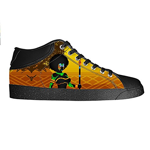 Dalliy African woman Men's Canvas shoes Schuhe Lace-up High-top Sneakers Segeltuchschuhe Leinwand-Schuh-Turnschuhe C