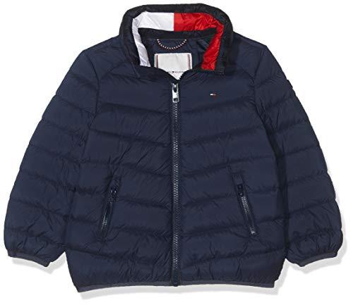 Tommy Hilfiger U Light Down Jacket Chaqueta, Azul Black Iris 002, 74 para Bebés