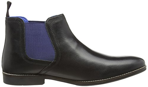 Red Tape Stockwood, Chelsea Boots Homme Black (Black Leather / Blue)