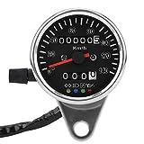 Keenso Tachimetro indicatore 65 mm viso nero impermeabile protezione UV LED meccanico moto tachimetro misuratore con display Splitter
