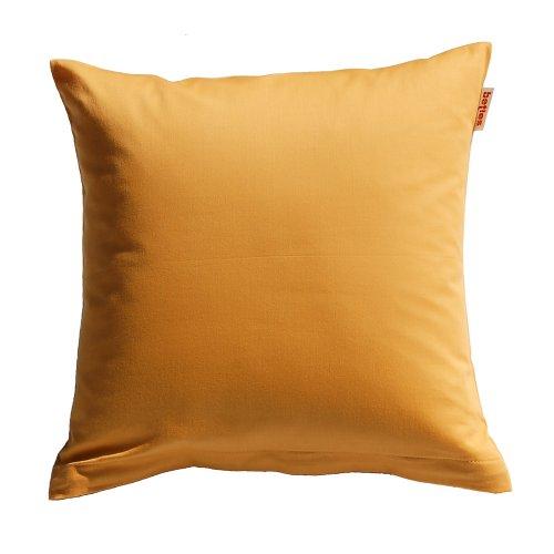 beties Mako Satin Kissenbezug 80 x 80 cm in 9 eleganten Uni Farben Gold-Gelb 1 Stück (wählen Sie Ihren Bettbezug extra dazu) (Reißverschluss Kissenbezug Satin)