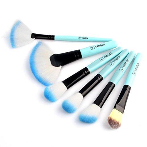 Pinsel Set Jamicy® 1 Satz / 32 STÜCKE Holz Make-Up Eyeshadow Contour Eye Lip Makeup Brushes Set Augenbraue Eyeliner Blush Kosmetik Concealer (Blau)