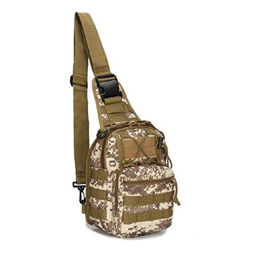 Z&N backpack Militärfans Tarnung kleine Brusttasche Reitschultertasche taktische Brusttasche Outdoor Bergsteigen tragbare Tasche Campingrucksack Wanderrucksack Männer und Frauen D