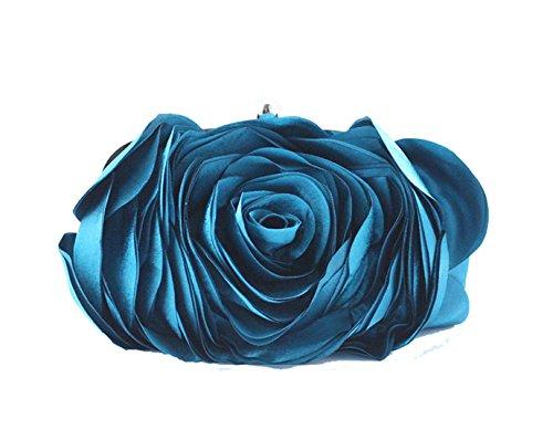 Aronvivi , Damen Clutch schwarz schwarz Einheitsgröße seeblau