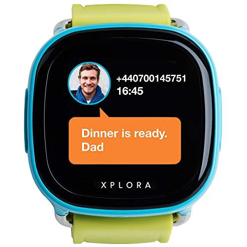 XPLORA – Telefonuhr für Kinder – Telefonieren, Mitteilungen senden und empfangen, Ruhezeiten, Sicherheitszonen, SOS, GPS-Ortung, Kalender (BLAU SIM-Free) - 2