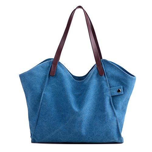 Ladies singola borsa a tracolla,borsa di tela,borsetta-grigio Blu