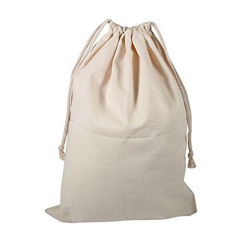 Packung mit 6 Kordelzug Taschen Baumwollbeutel Drawstring Reisen für Männer und Frauen(30*40cm) - Haltbares Kordelzug