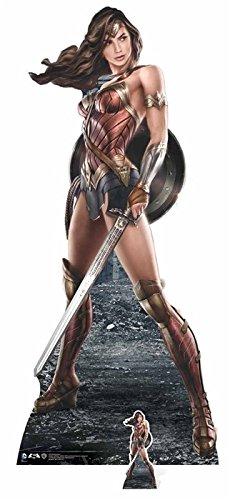 DC Comics Wonder Woman (Grafik-Artwork) Life Größe Pappe, Multi Farbe
