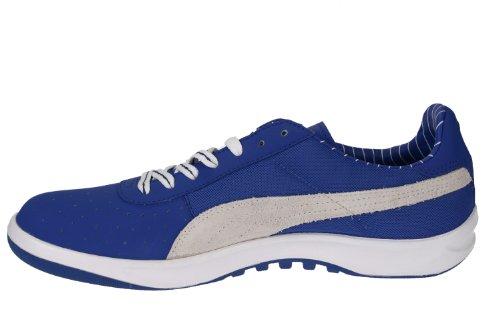 Puma La Scamosciata Pelle Superiore A In Bianco Moda Tela Classico E Royal Sneaker California fqawfCR