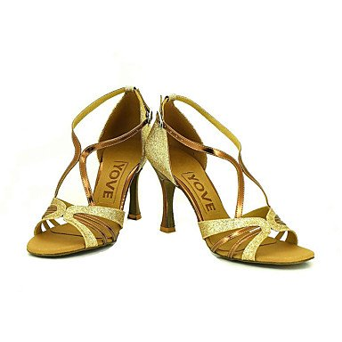 Ruhe @ Damen Beruf Dance Schuhe Silber qYgauw