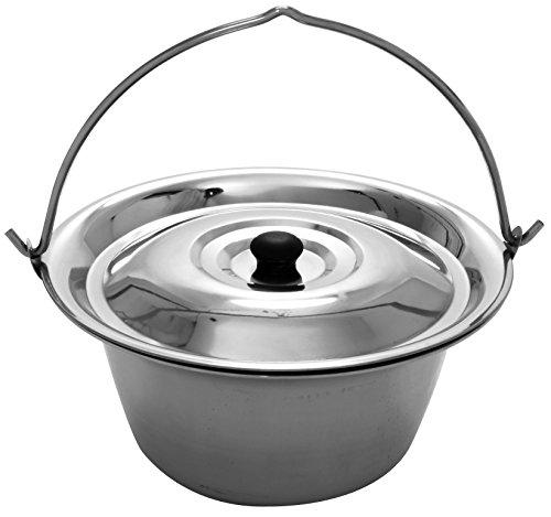 Gulaschkessel 15 Liter Edelstahl Materialstärke 1 mm und Deckel