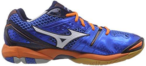Mizuno Wave Tornado 9, Chaussures Indoor Homme Bleu - Blau (DirectBlue/White/Orange 22)