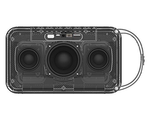 Simpowel V10 – Bluetooth Lautsprecher 4.0 Tiefer Bass 20W Tragbar Drahtloser Lautsprecher Mit TI 5 Serie DSP und Einbauen Micro SD MP3 plaer Mikrofon Bis zu 10 Stunden Spielzeit (Schwarz) - 6