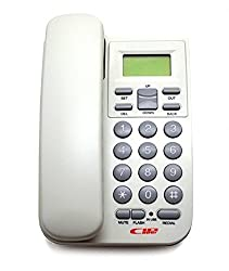 Glives Landline Caller Id KX-T555 LCD Telephone Corded Phone (Assorted Color)
