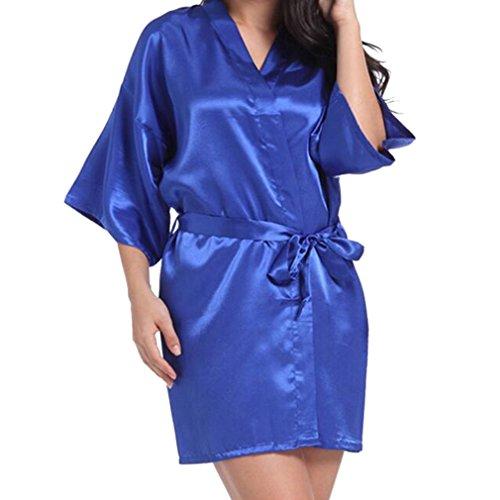 Fangcheng Brautjungfer Robe Hochzeit Braut Nachtwäsche Nachtwäsche Brautkleid Bademantel Nachthemd Nachtwäsche Nachthemd Homewear Blue Mutter des Bräutigams (Robe Lila König)