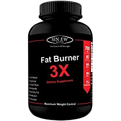 Sinew Nutrition Natural Fat Burner 3X (Green Tea, Green Coffee & Garcinia Cambogia Extract) - 700 mg (60 Veg Capsules) Weight Management & Appetite Suppressant Supplement