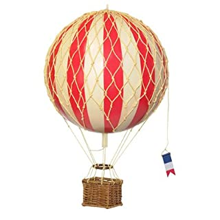 Authentic Models Travels Light Hot Air Balloon Model in True Red