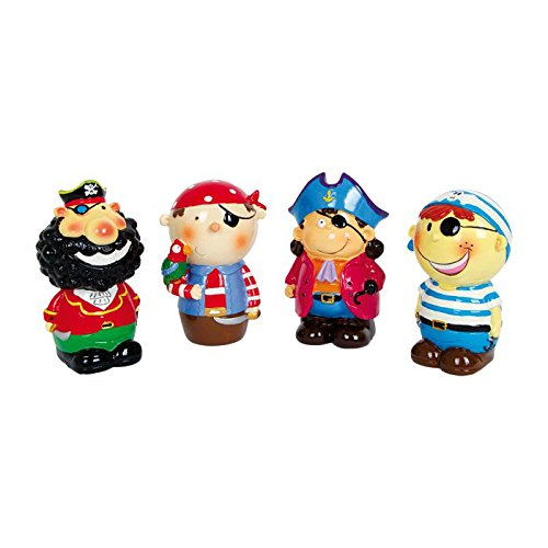 Small Foot Company 8362 - Spardose Piratenbande, 4-er Set