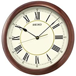 Seiko Wall Clock (41 cm x 41 cm x 5 cm, Brown, QXA598AN)