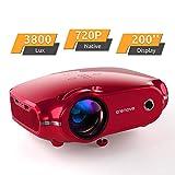 Projektor, portabler Crenova Mini HD Beamer 1080P unterstützt, 3800 Lumen Beamer mit 200