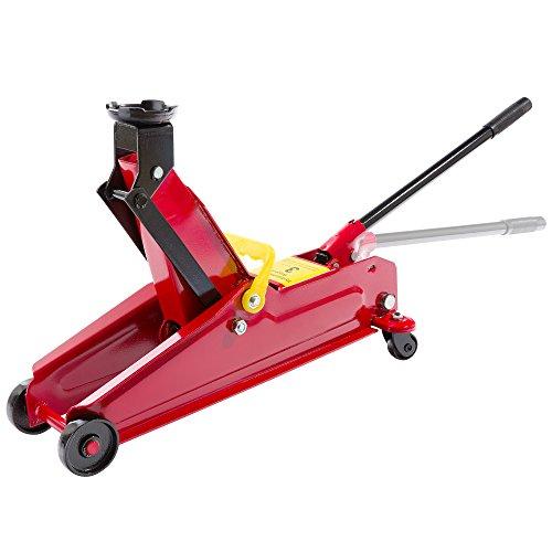 Arebos® Cric Hydraulique Roulant Cric Rouleur 3 T