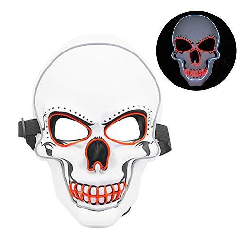 Led Kostüm Verkauf Licht Zum - Cherishly Halloween Maske, LED Maske, Licht Party Maske Neon Cosplay Horror In Dunkle Maske Leuchtende Taro (zwei Stücke Zum Verkauf) trusted