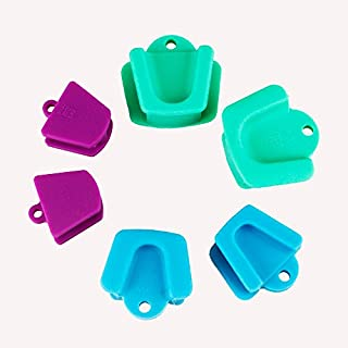 Airgoesin Silicone Mouth Prop, Dental Bite Block Opener 135 Degree Autoclavable Child Adult Size Cheek Retractor 6pcs