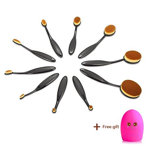 Make Up Lot de pinceaux Professional ovale Lot de brosse de maquillage,Pinceau de maquillage fonctions Poudre,Correcteur,contour,fond de teint,sourcils,et Pinceaux,Pinceau de maquillage cheveux doux