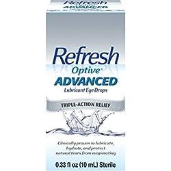 Refresh Optive Advanced Lubricant Eye Drops 0.33 oz per Box