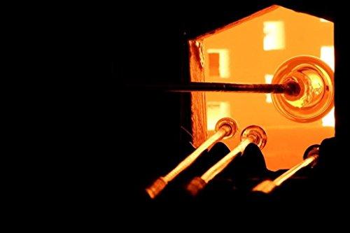 Fatto a mano vetro fuso ARTE-UCCELLI DESIGN Set di 5 Regalo unico per qualsiasi occasione