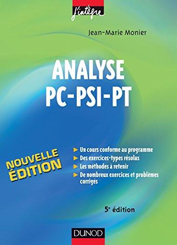 Analyse PC-PSI-PT (Concours Ecoles d&#39...