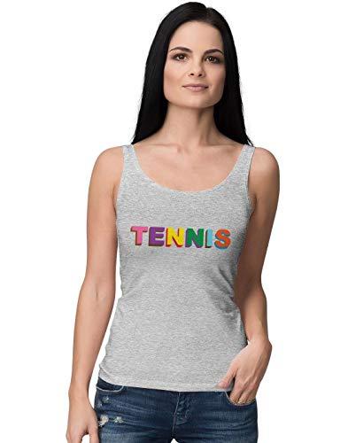 Butterfly-baumwolle-tank Top (BLAK TEE Colourful Tennis Slogan Damen Tank Top S)