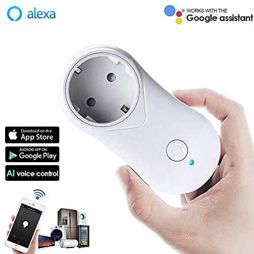 VIFLYKOO Enchufe Inteligente WiFi Inalámbrico Socket con Control Remoto Inteligente, Temporizador y Puerto USB, WiFi Smart Plug Ofrece Aplicaciones Compatibles con Android e iOS Smartphone