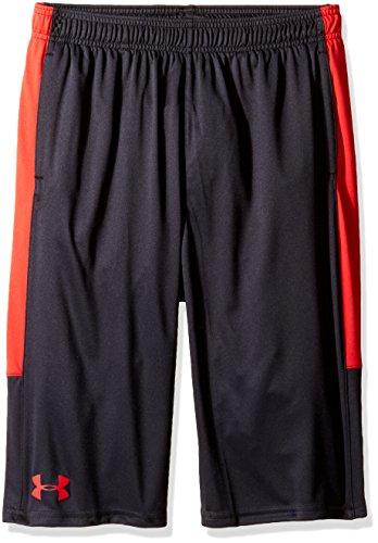 Under Armour Jungen UA Stunt Shorts Kurze Hose, Black/Red, L